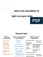 Conveyor Belt Calculation