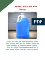 Cara Membuat Wash and Wax Shampo