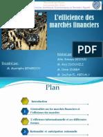 l'efficience des marché financiers