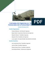 Avance programa I Jornada Urgencias Hospitales Comarcales COM VAL Gandía 24oct2013