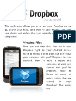 Android Introduction on Dropbox