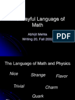 The Playful Language of Math