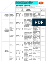 Job Notification State Health Society Bihar Notified Recruitment for 1177 Different Posts 2013
