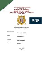 LA CRISIS ECONÓMICA EN  FRANCIA