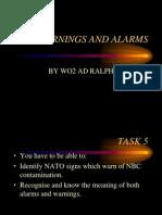 NBC Warning and Alarms