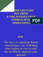 Maneuverist Approach to War Fighting