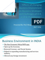 """""""Effects of changing Business Environment on Business Strategies and Challenges of H.R. as O.D. Practitioner.pptx"""