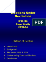 Elections Under Devolution