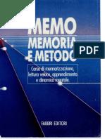 Memo, Memoria e Metodo - 1 - Memorizzazione - By Ufoscout