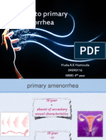 Approach to primary amenorrhea