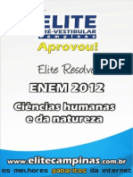 Elite Resolve ENEM 2012 Humanidades Natureza