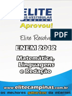 Elite Resolve ENEM 2012 Linguagens Matematica