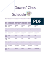 ms gowers class schedule
