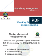 BM018 Chap 2 Five Key Elements of Entrepreneurship