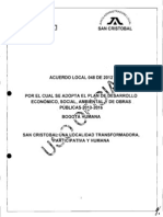 Plan de Desarrollo Local de San Cristobal