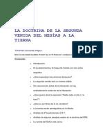 LA DOCTRINA DE LA SEGUNDA VENIDA DEL MESÍAS A LA TIERRA