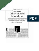 Crisis y Cambios de Paradigma - Ana Maria Llamazares