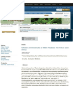 Purification and Characterisation of Alkaline Phosphatase From Fruticose Lichen Usnea