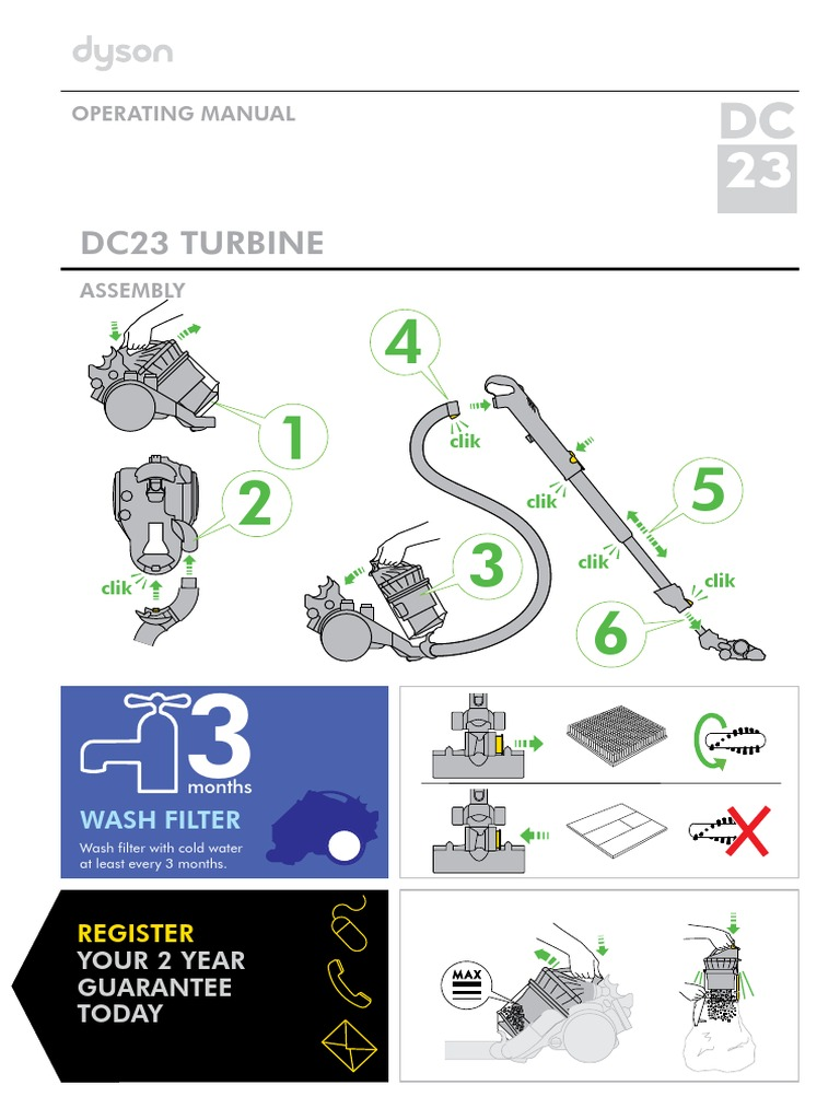Dyson DCDyson DC23 Turbine Head Canister Vacuum All Floors 12 Amp New in  Box23 Turbinehead All Floors | Vacuum Cleaner | Manufactured Goods