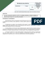 14º ROTEIRO DE AULA PRÁTICA - REMOÇÃO DE COR E ODOR DE MATERIAIS COM O USO DO CARVÃO ATIVADO