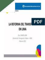 Reforma de Transporte en Lima