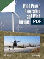 Wind Power Generation and Wind Turbine Design