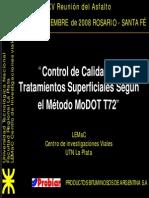 Control de Calidad de Tratamientos Superficiales - Metodo Modot t72