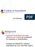 M & A – Funding