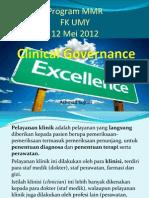 Clinical Governance Program MMR UMY 12.5.2012