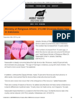 Ministry of Religious Affairs_ 212,000 Divorces Every Year in Indonesia