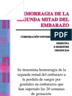 Hemorragia 2da Mitad Del Embarazos