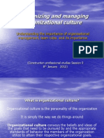 8th Jan 2012 - Organisational Culture
