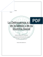 La Delincuencia a La Luz de La Iglesia y de Su Doctrina Social