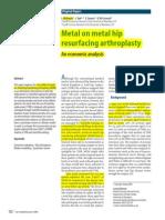 (2003) Mckenzie - Metal on Metal Hip Resurfacing Arthroplasty an Economic Analysis