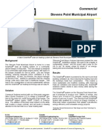 SolarWall Case Study - Stevens Point Municipal Airport (solar air heating system)