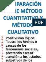 06 - COMPARACIÓN ENTRE MÉTODO CUANTITATIVO Y MÉTODO CUALITATIVO
