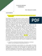 PARMENIDES Cuestionario Completo Para Fahce