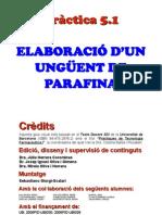 Practica5.1 Unguent de Parafina
