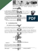 Condensateur E_ Diople RC(2009 2010)