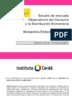 Estudio Mercado. Productos Ecológicos, MARM, 2007
