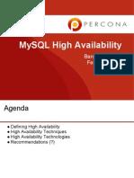 MySQL 高可用性