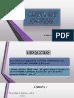 Lista Dee Cotejo