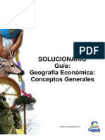 Sol. Geografía económica conceptos generales