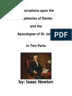 OBSERVAÇÕES SOBRE AS PROFECIAS DE DANIEL E APOCALIPSE