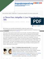 Lenguajecorporal Org Cinco Claves Aniquilar Machos Alfa