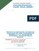 Proyecto Villa Maria - Secundaria