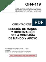 OR4-119 SECCION DE MANDO Y OBSERVACION DE LA COMPAÑIA DE MAN