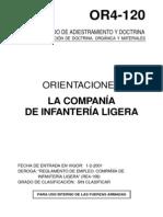 OR4-120 LA COMPAÑIA DE INFANTERÍA LIGERA