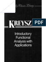 Introductory Functional Analysis With Applications [Kreyszig]