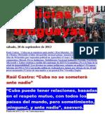 Noticias Uruguayas sábado 28 de setiembre del 2013